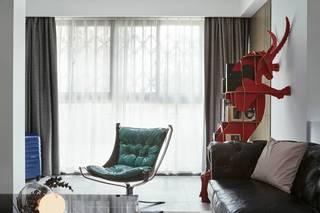 混搭风格三居装修窗帘设计图