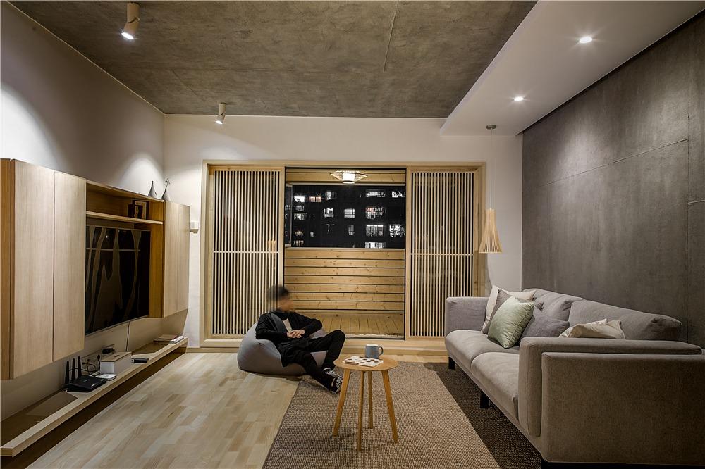 三居室日式风格客厅装修效果图