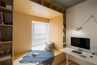 三居室日式风格榻榻米书房装修效果图