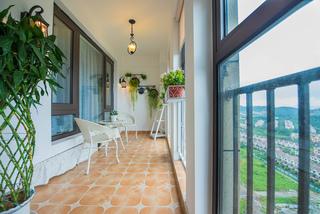 地中海混搭风格三居阳台装修效果图