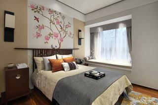 120平米新中式风格卧室装修效果图
