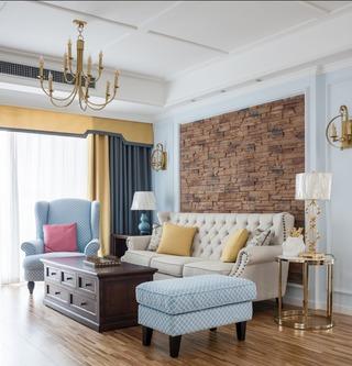 136㎡美式风格客厅装修效果图