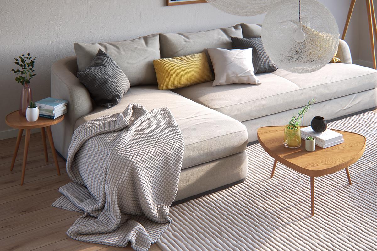 简约风公寓装修沙发设计效果图