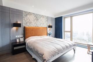 现代混搭四居卧室装修效果图