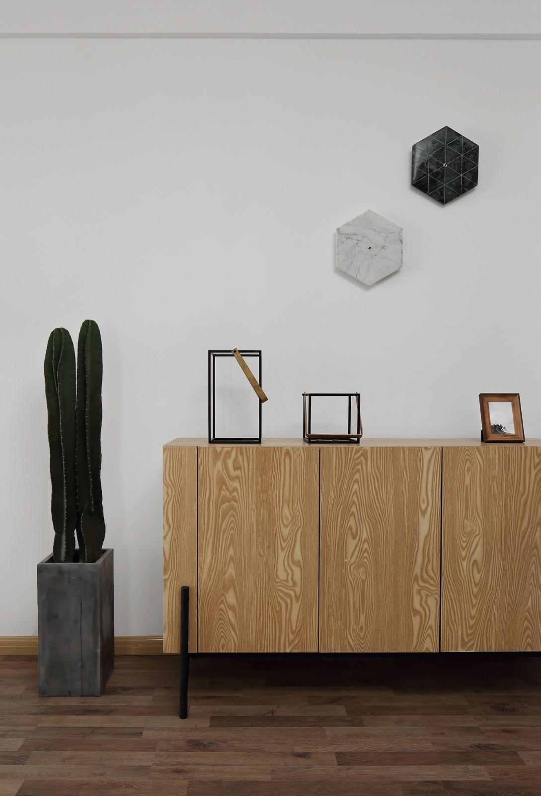 80平米北欧风格装修餐边柜设计图