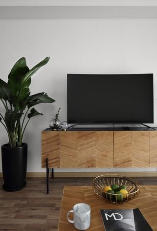 80平米北欧风格装修电视柜设计图