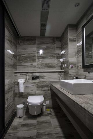 灰色调现代风二居卫生间装修效果图