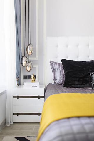 时尚摩登样板房装修床头柜设计图