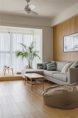 极简日式风格三居阳台装修效果图