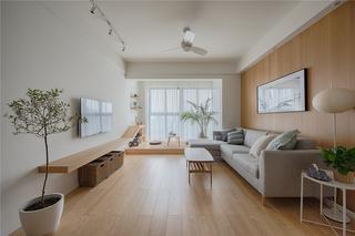 极简日式风格三居客厅装修效果图