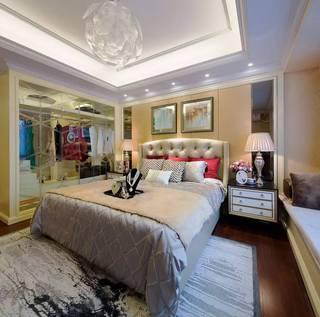 简欧风格样板房卧室装修效果图