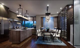新中式三居室样板房装修效果图