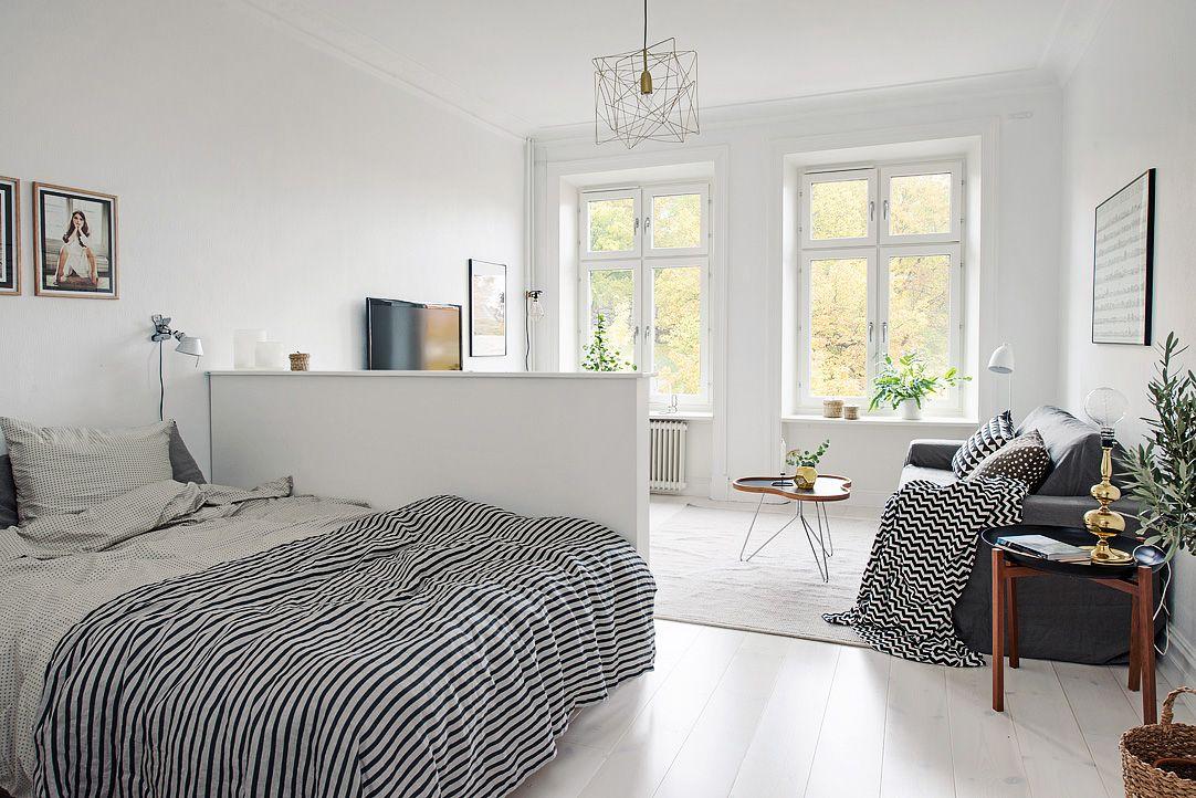 40平米白色公寓装修效果图