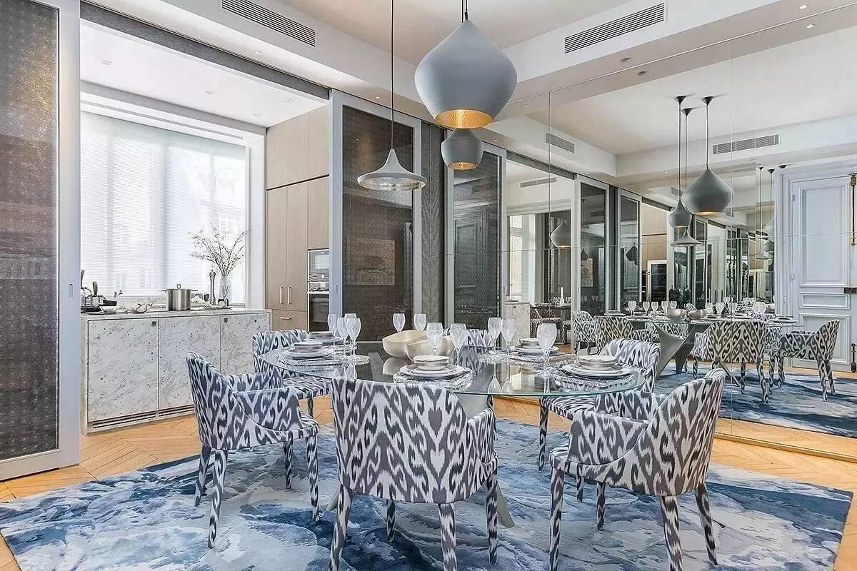 大户型奢华公寓餐厅装修效果图