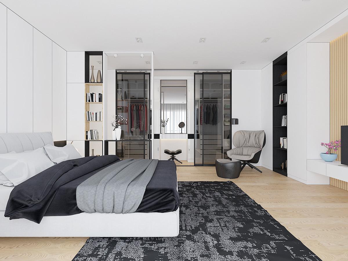 大户型简约风格卧室装修效果图