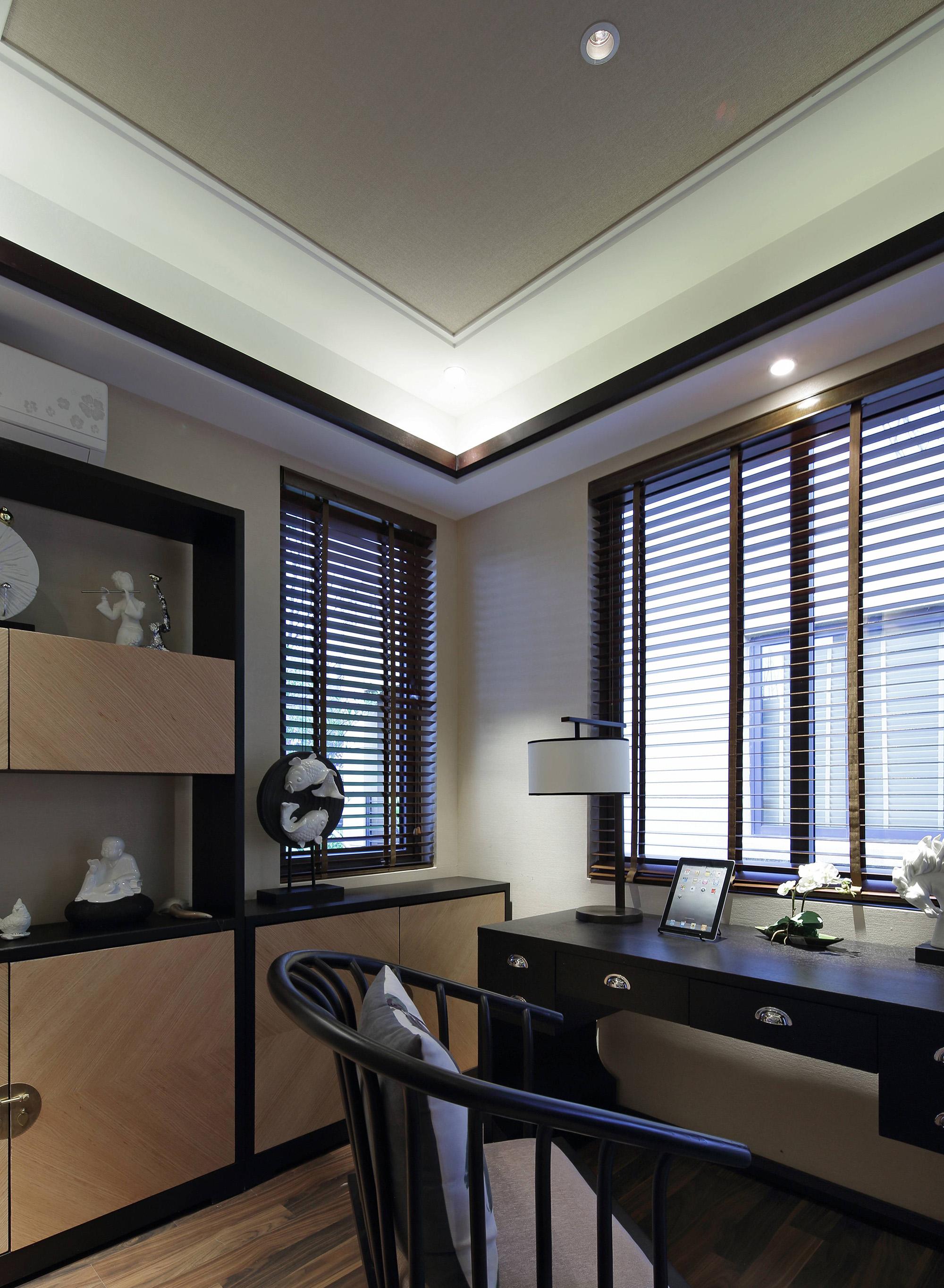 新中式风格样板间书房装修效果图