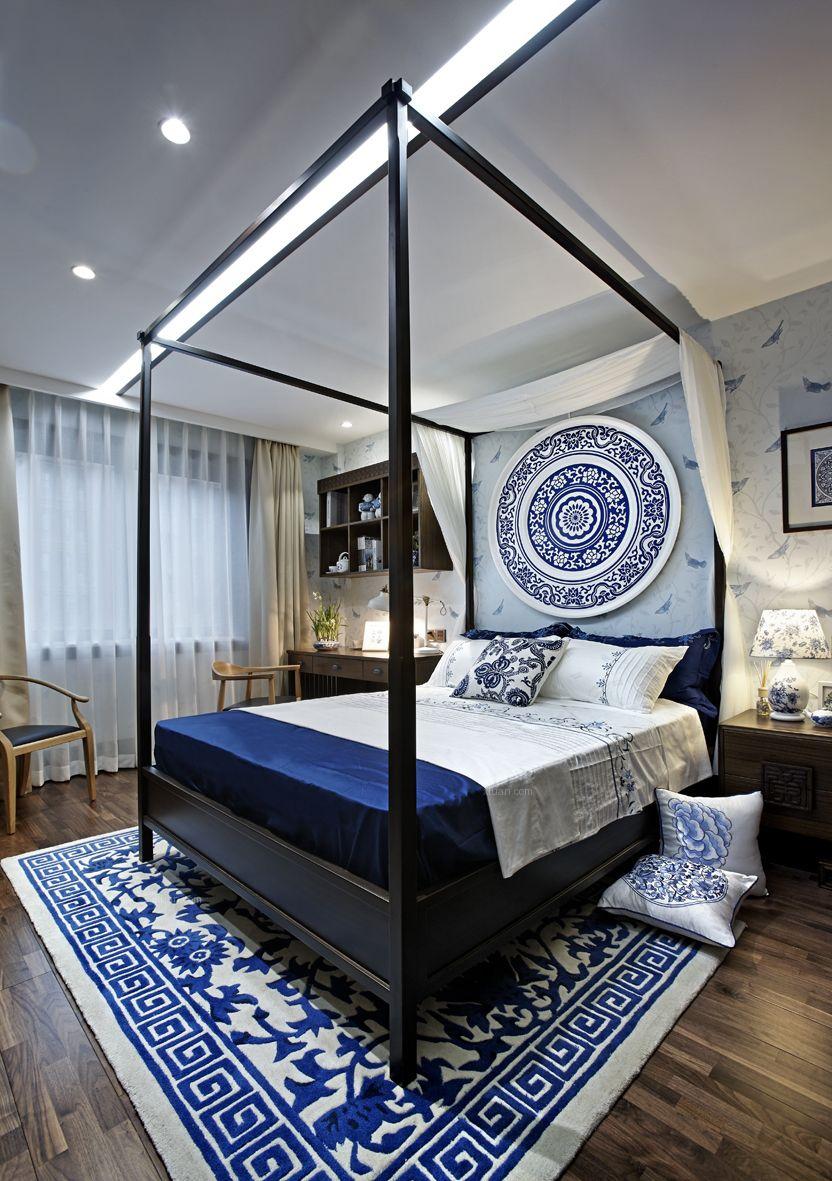 三居室中式风格卧室装修搭配图