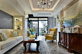 欧美风格三居客厅装修效果图