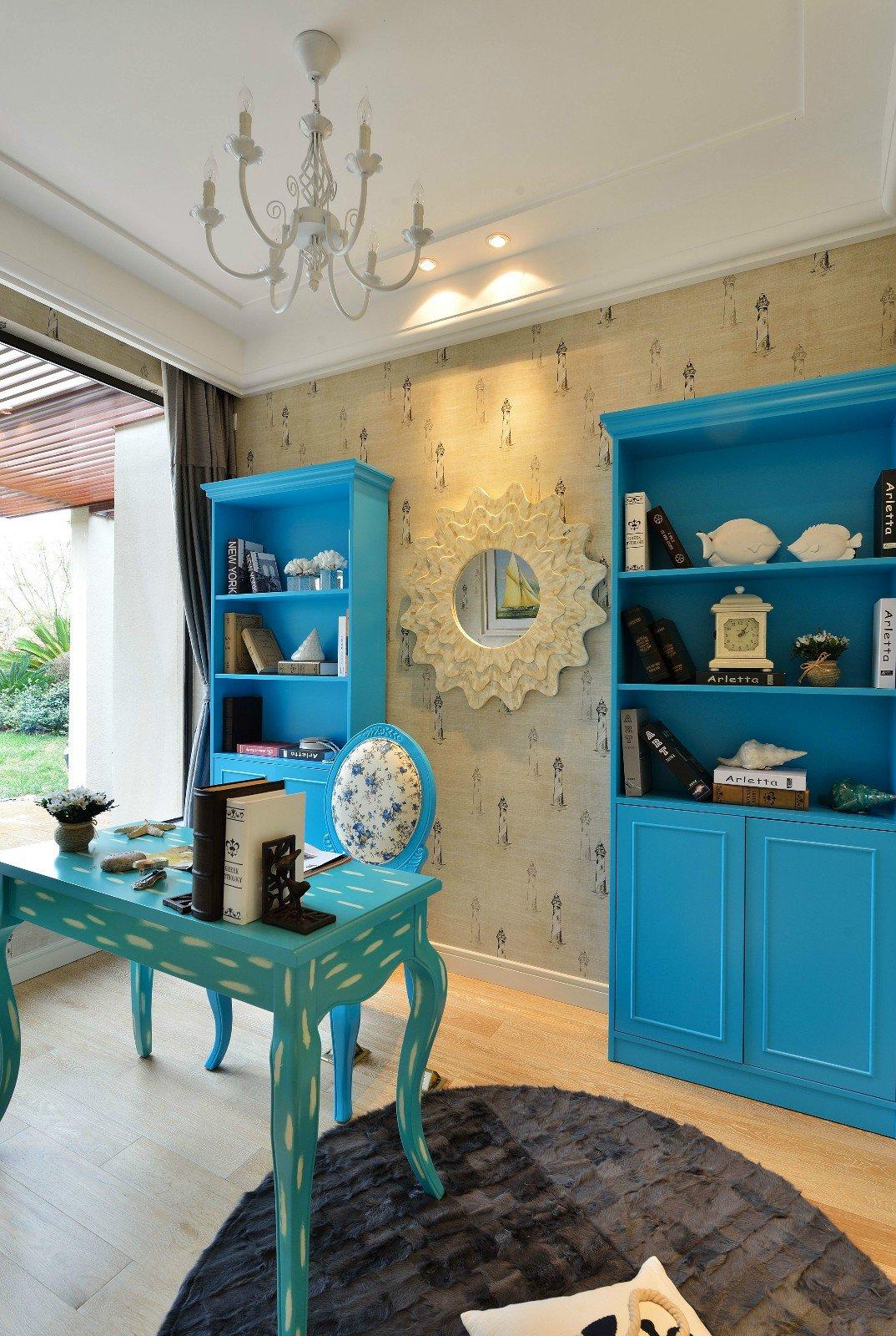 三居室地中海风格书房装修效果图