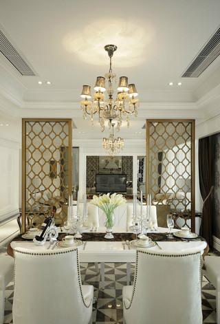 140平新古典风格餐厅装修效果图