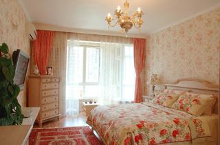 美式田园风格三居卧室装修效果图