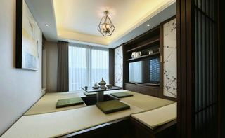 新中式风格别墅榻榻米装修效果图