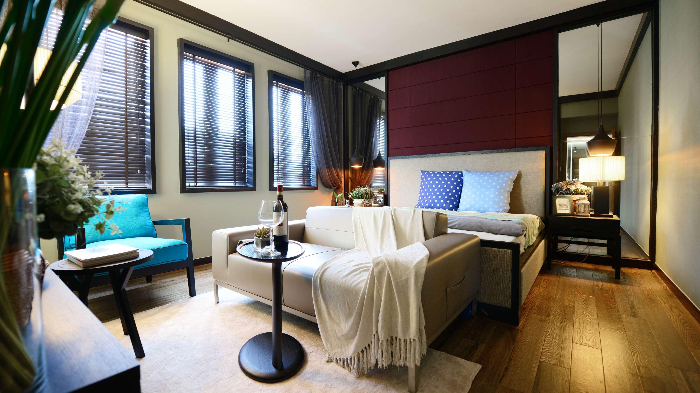 大户型现代中式风格卧室装修效果图