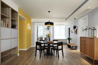 现代简约三居餐厅装修设计图
