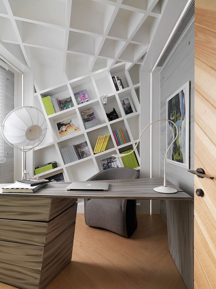 132㎡现代风格书房装修效果图