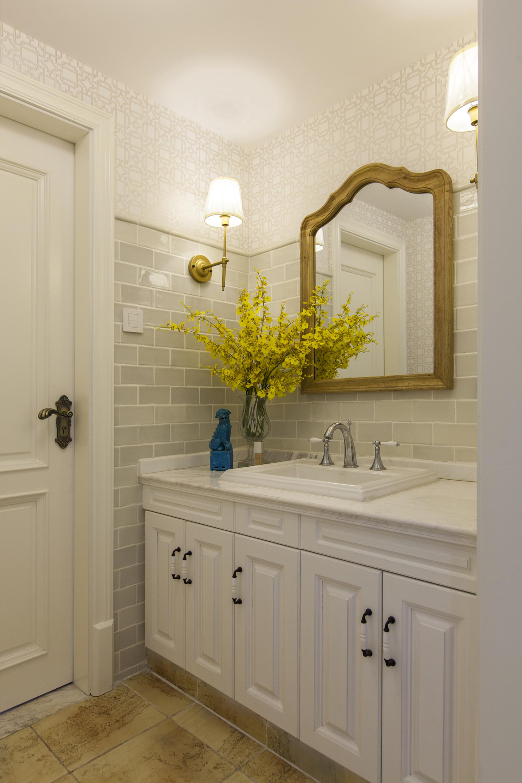 四居室美式风格洗手台装修效果图