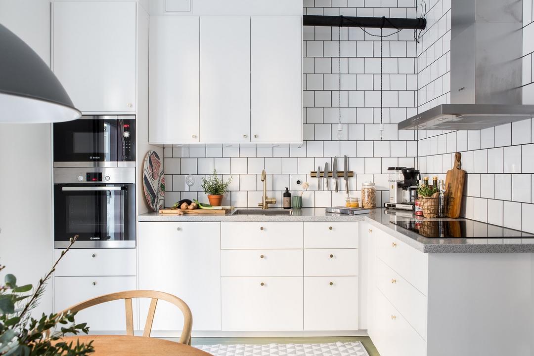 北欧风格公寓厨房装修设计图