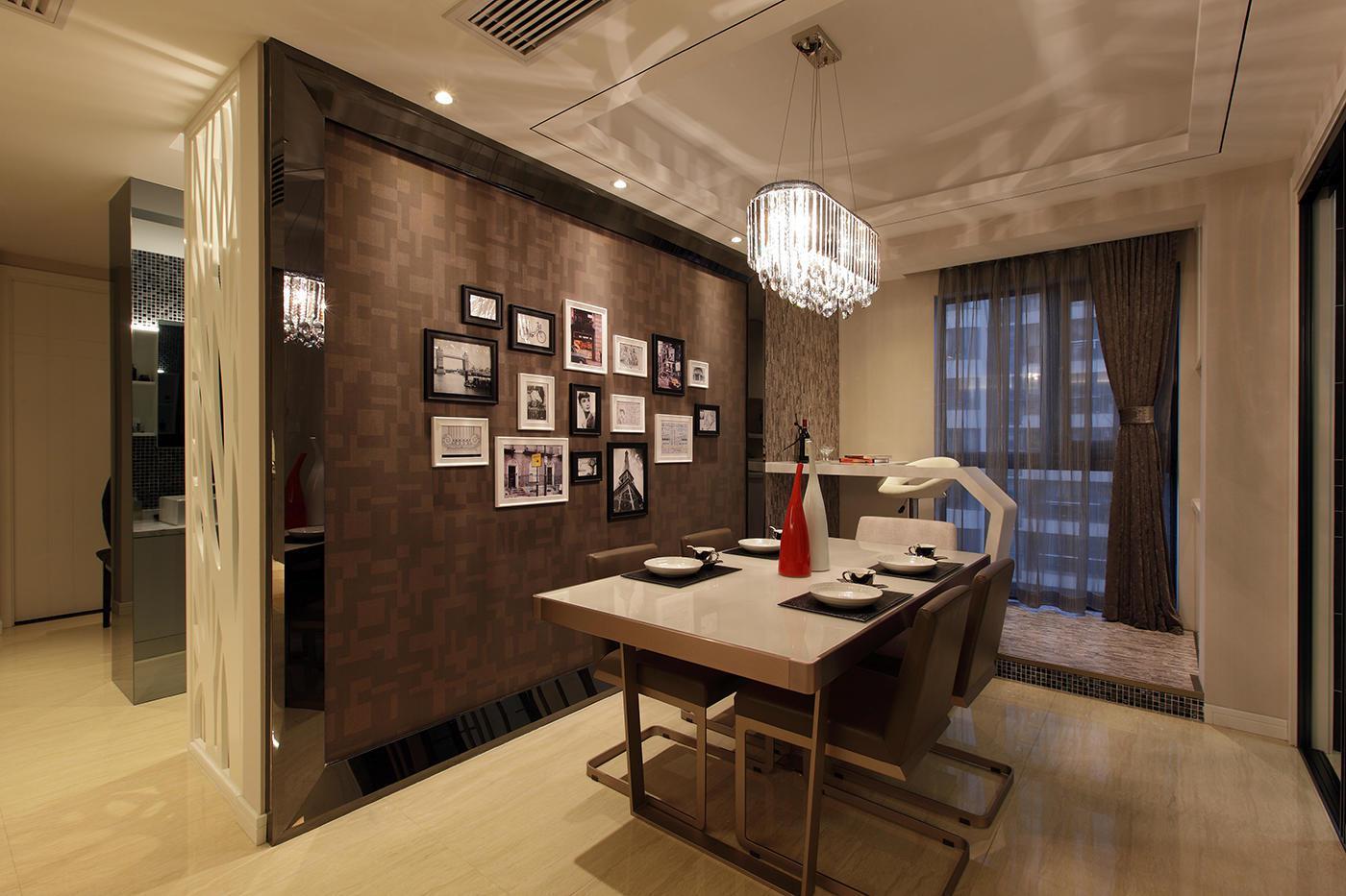 现代风格三居室餐厅装修效果图