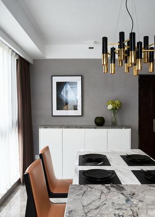 145平时尚现代风餐厅装修效果图