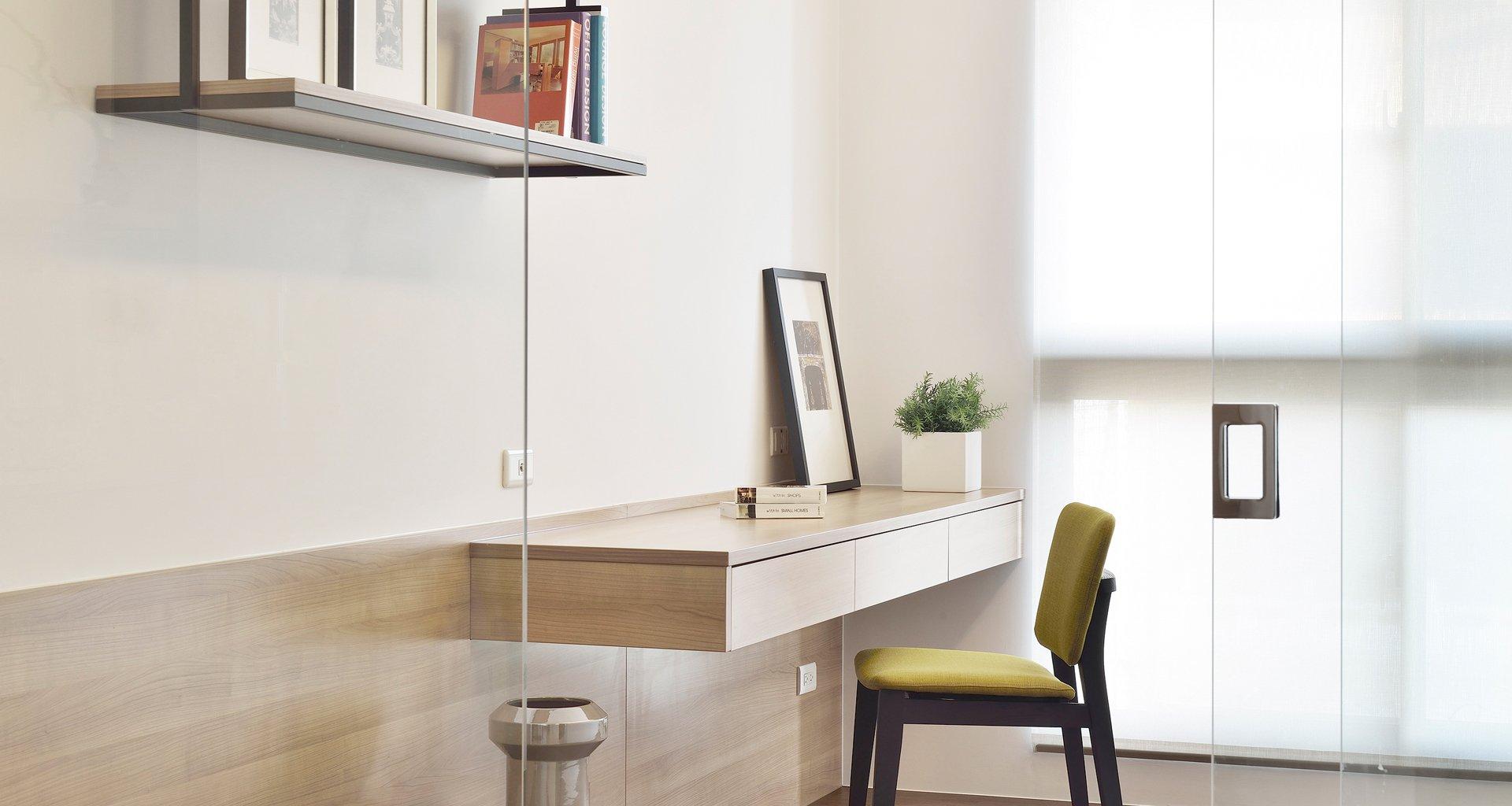 现代简约二居室书房装修效果图