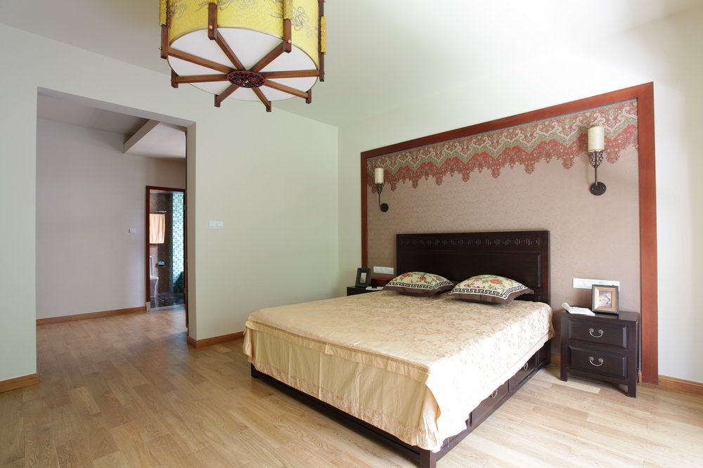 中式风格别墅卧室装修效果图
