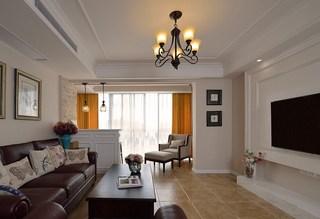160㎡复式美式风格客厅装修效果图