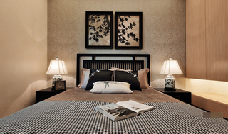 三居室中式风格卧室装修设计图