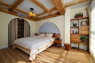 美式乡村风格二居卧室装修效果图