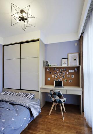 89平北欧风格卧室装修效果图