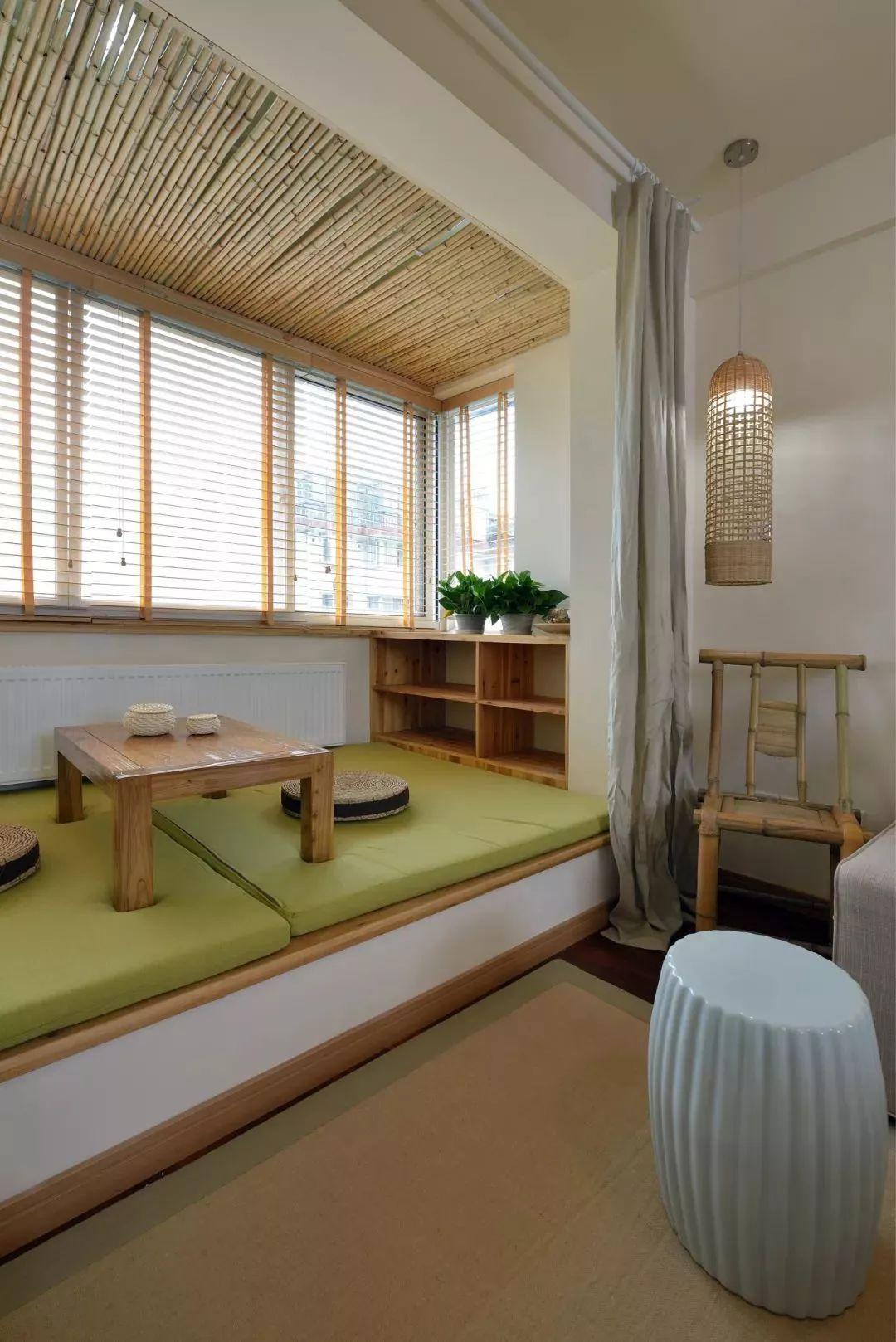简约日式风格两居阳台装修效果图
