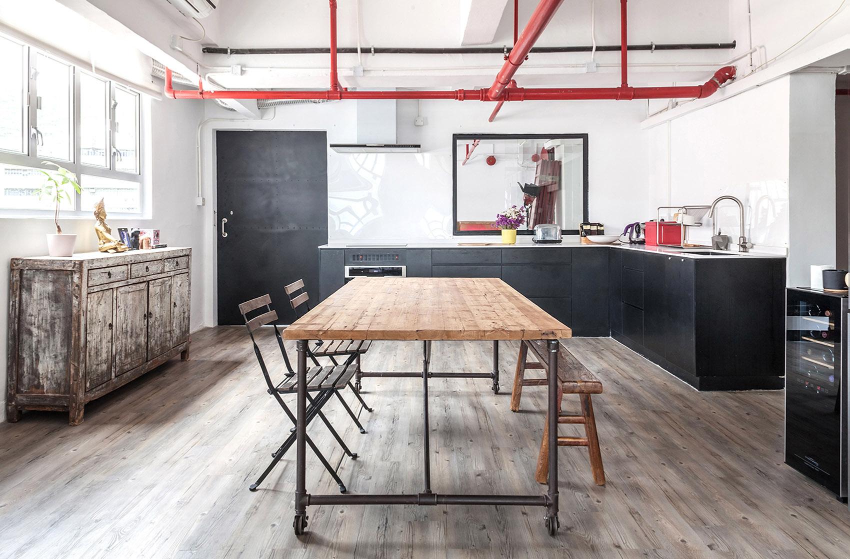 LOFT工业风格餐厅装修效果图