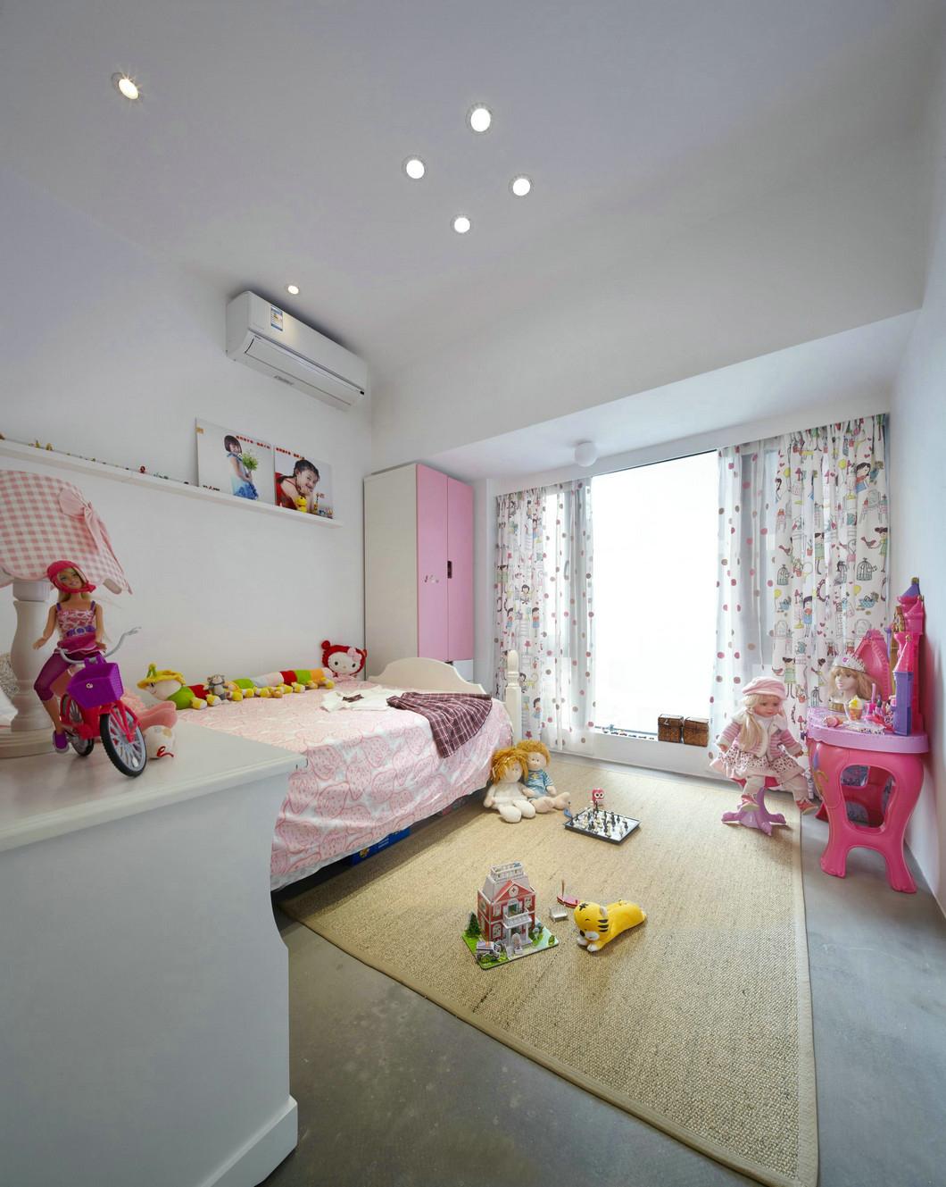 150㎡极简风格儿童房装修效果图