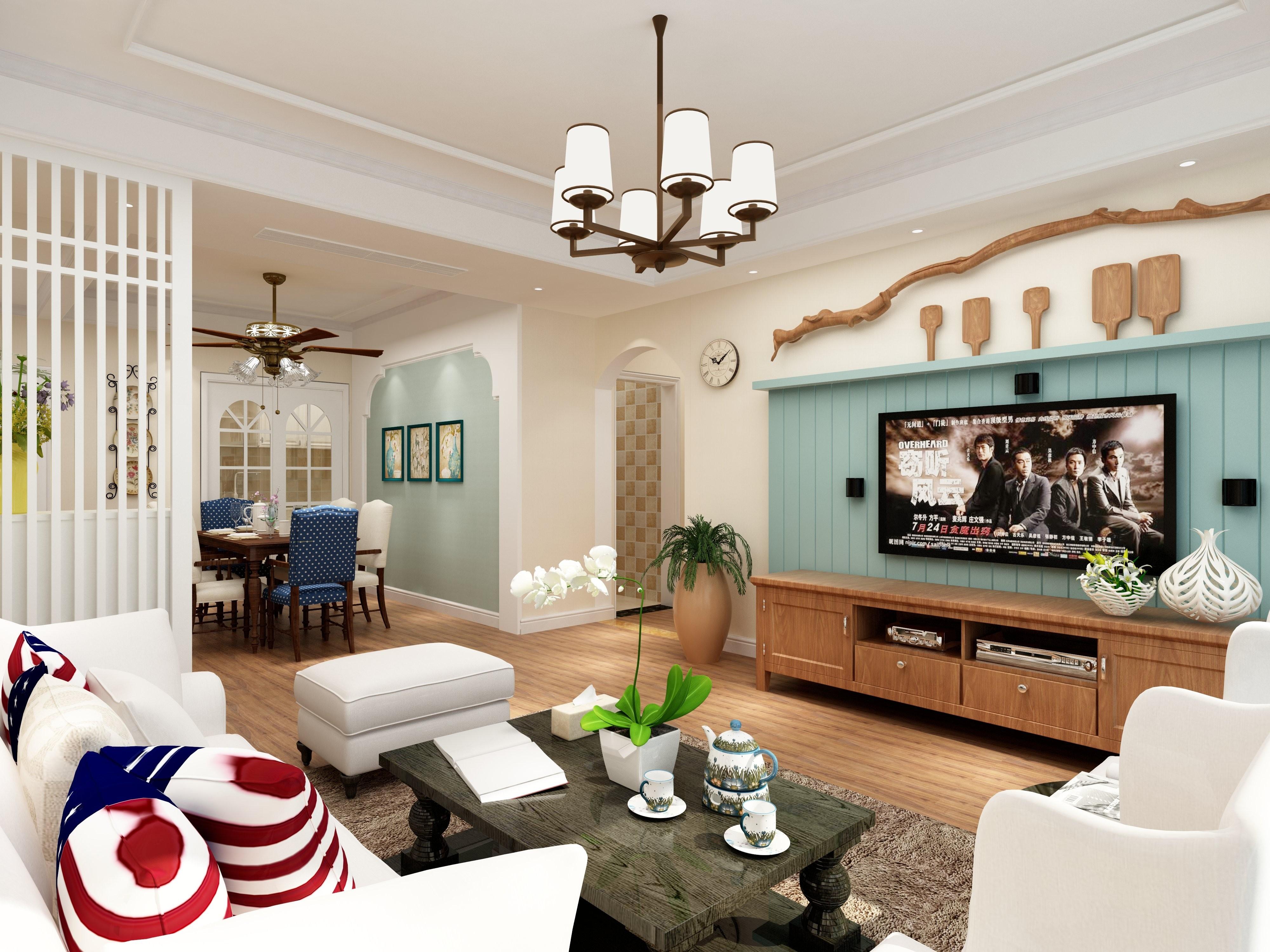 美式风格两居装修效果图