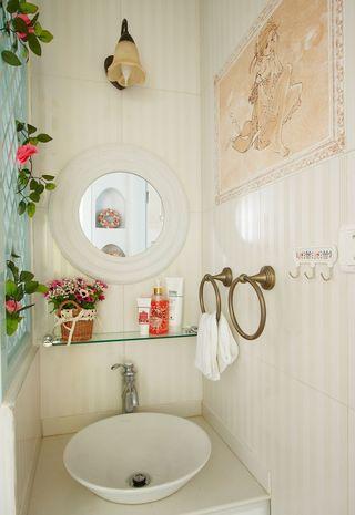 两居室田园风格洗手台装修效果图