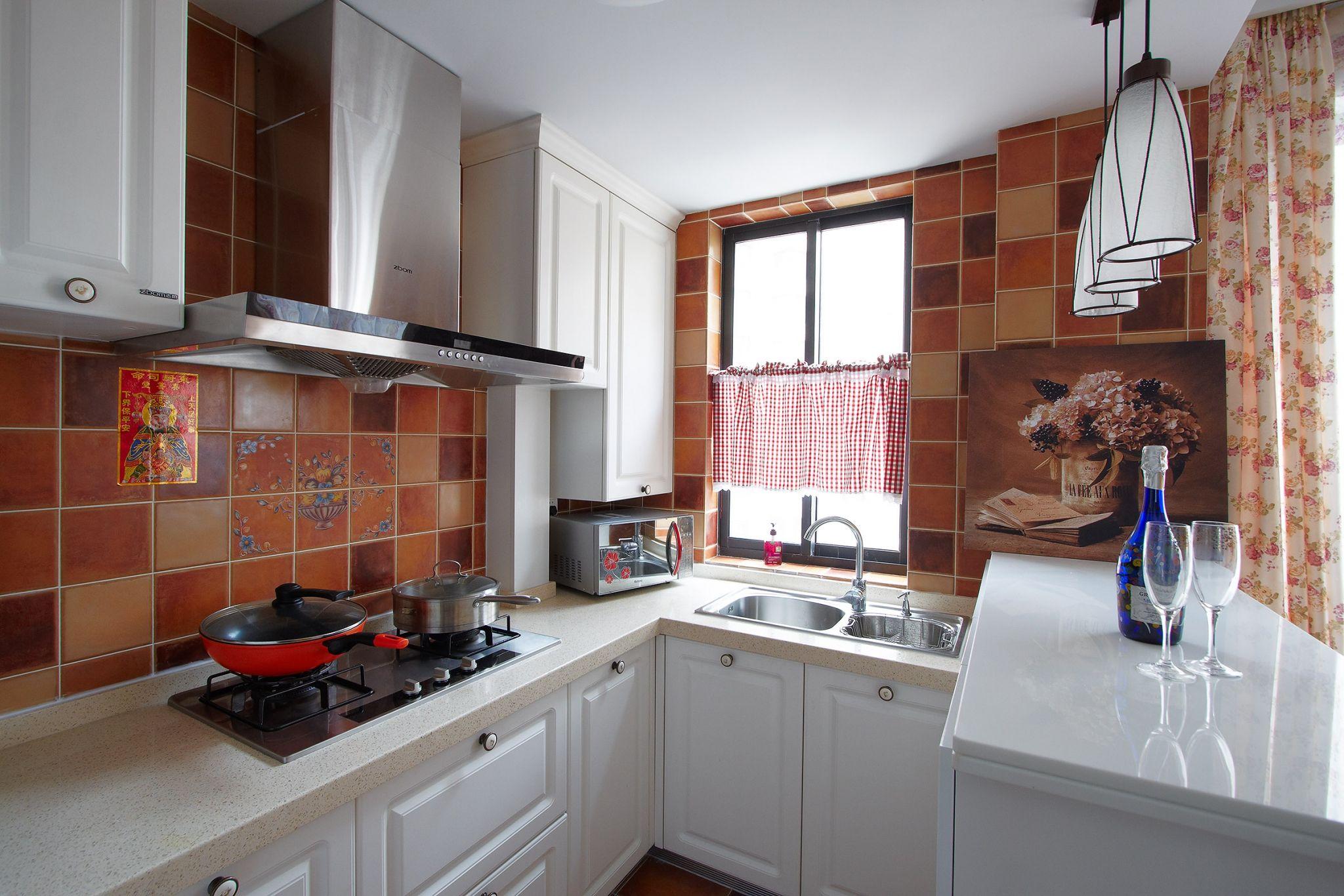 两居室田园风格厨房装修效果图