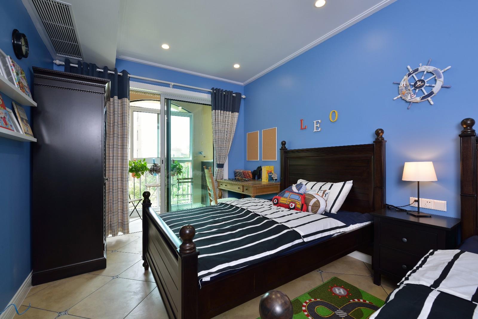 现代美式风格儿童房装修设计图