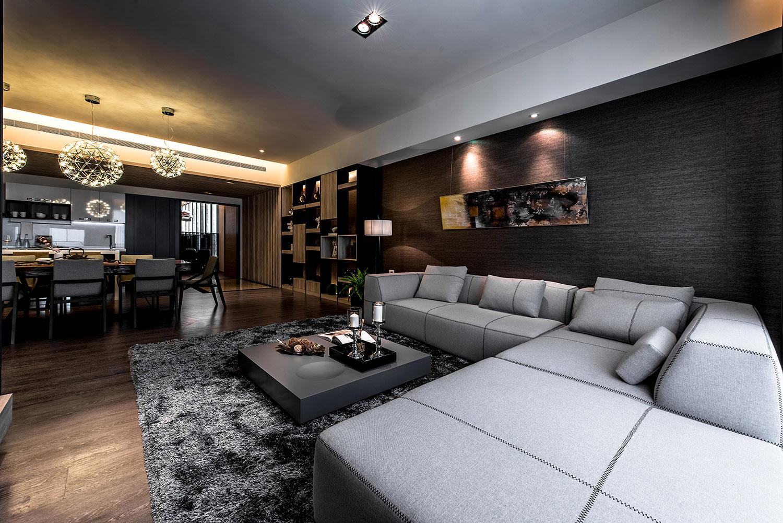 150㎡现代风格装修沙发布置图
