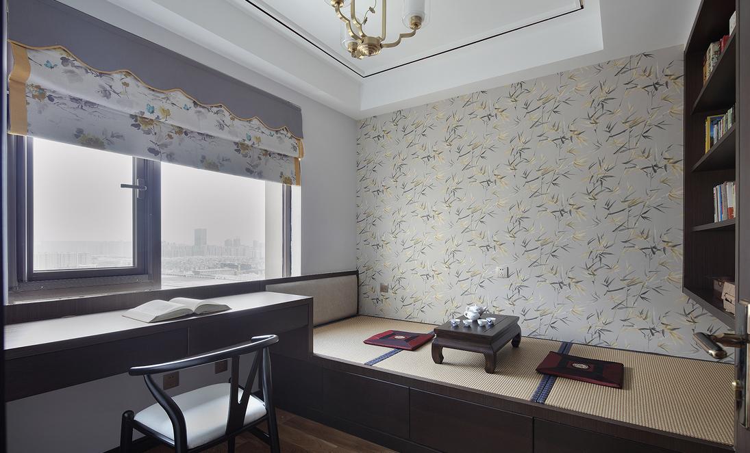 新中式三居榻榻米装修设计效果图