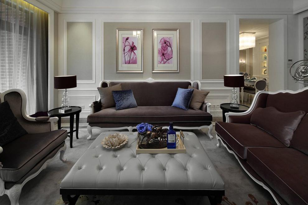 简欧风格别墅沙发背景墙装修效果图