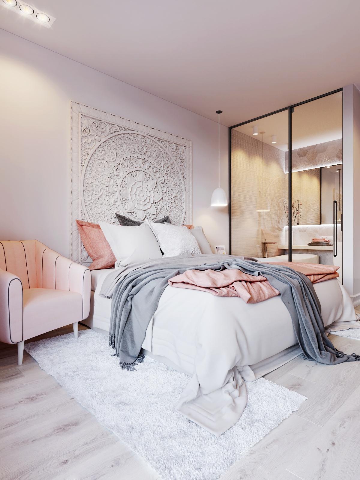 简约时尚公寓卧室装修效果图